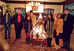 Members of the Quad City Institute with the Enlightened Tree